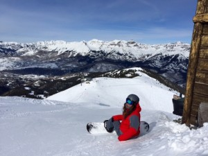 Snowboard Instructor Lindsey Mesereau Photographed Atop Revelation Bowl by Her Lady