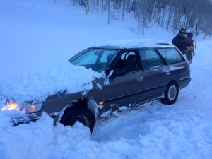 Snowbank Plunge Due to a Way-Too Frosty Winshield