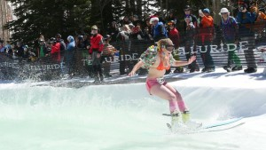 Pond Skimming on Closing Day in Telluride