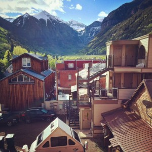 The View of the Beautiful Funky Town of Telluride from Our Room at the New Sheridan