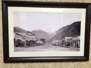 Old Time-y Photos Line the Walls at the New Sheridan