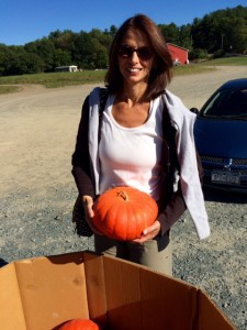 Me Picking Out a French Pumpkin for Mom