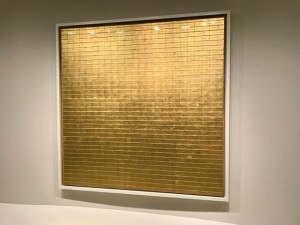 Try Breathing into this Painting Entitled Friendship by Agnes Martin at the Guggenheim